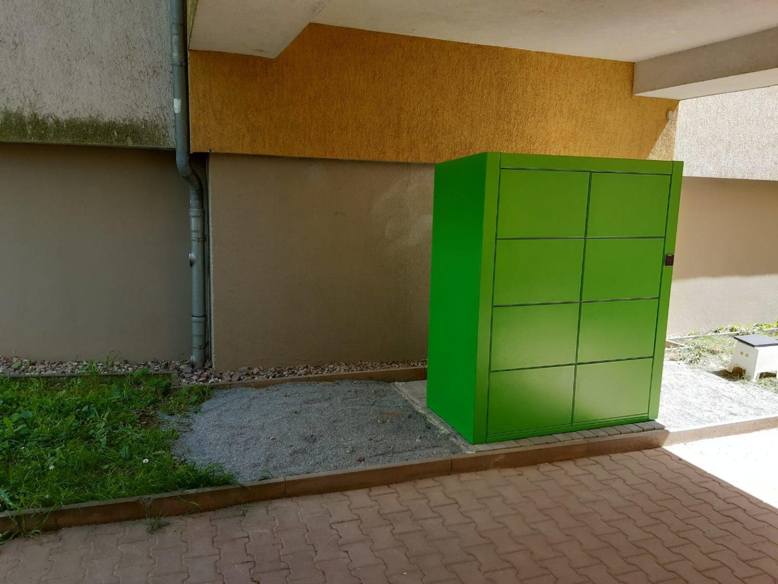 Aufstellung Paketstation Jena