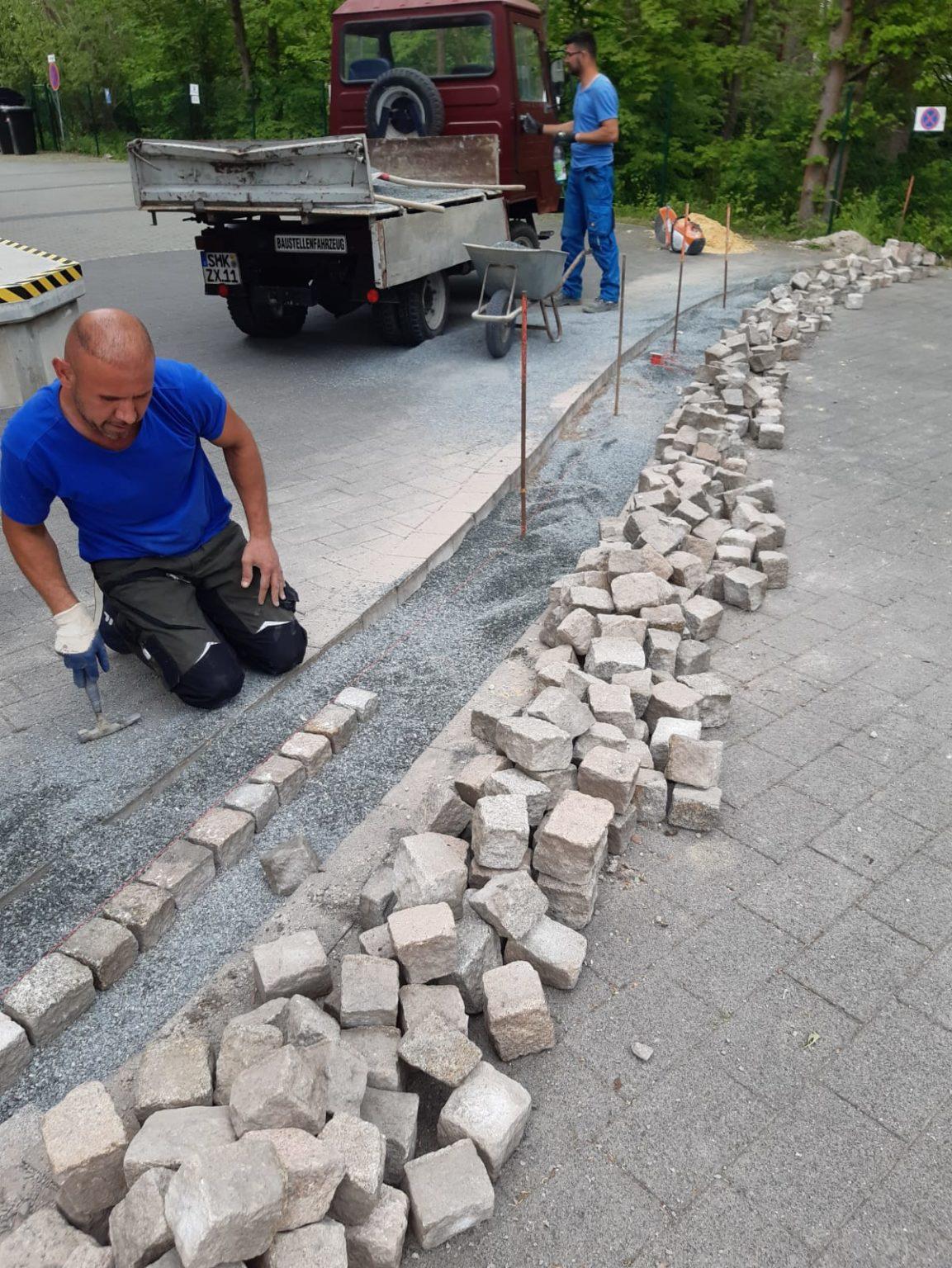 Setzen Granit