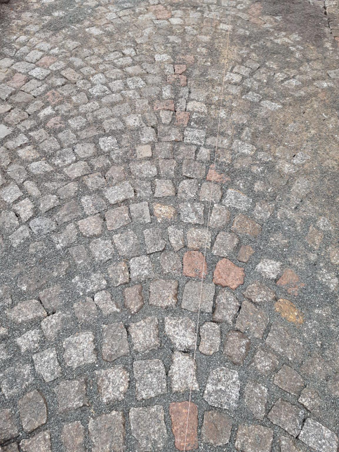 Verlegung Granitpflaster Zöllnitz